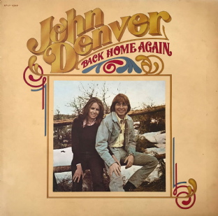 John Denver ‎- Back Home Again (LP) (VG-/G-VG)